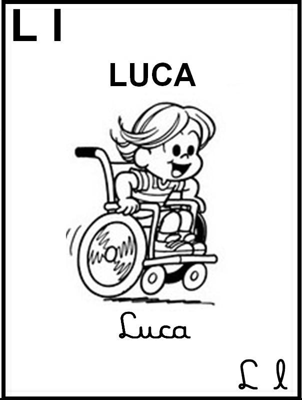 Alfabeto Ilustrado Turma da Mônica - Letra L