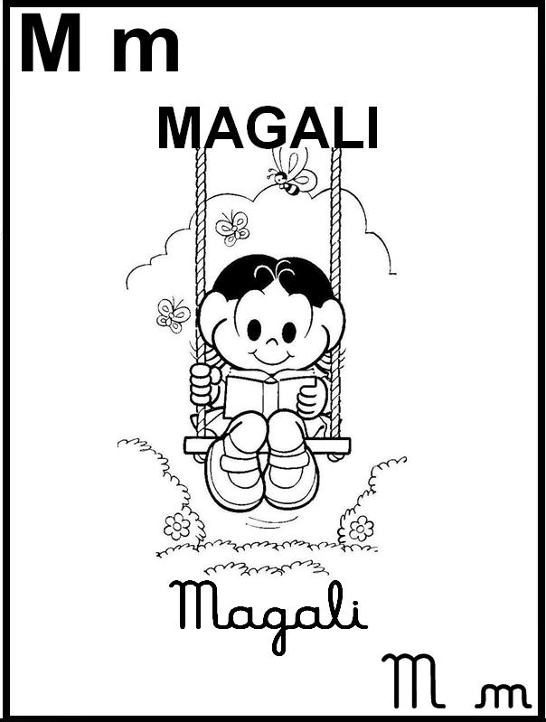 Alfabeto Ilustrado Turma da Mônica - Letra M