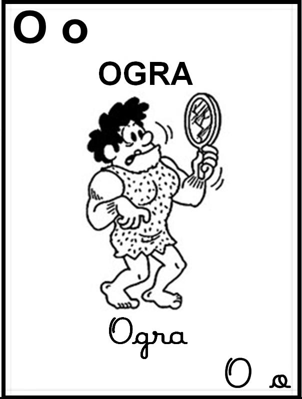 Alfabeto Ilustrado Turma da Mônica - Letra O
