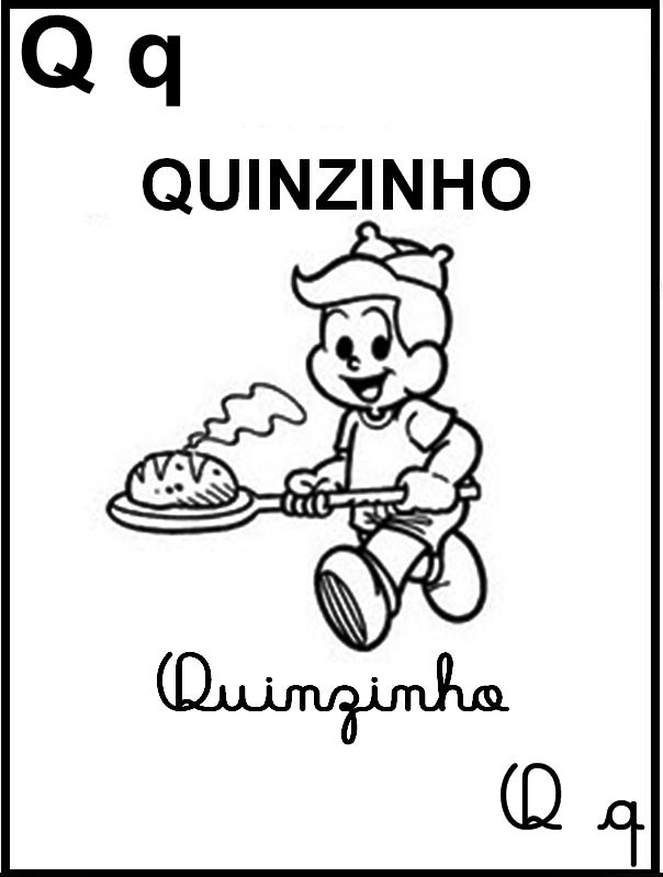 Alfabeto Ilustrado Turma da Mônica - Letra Q