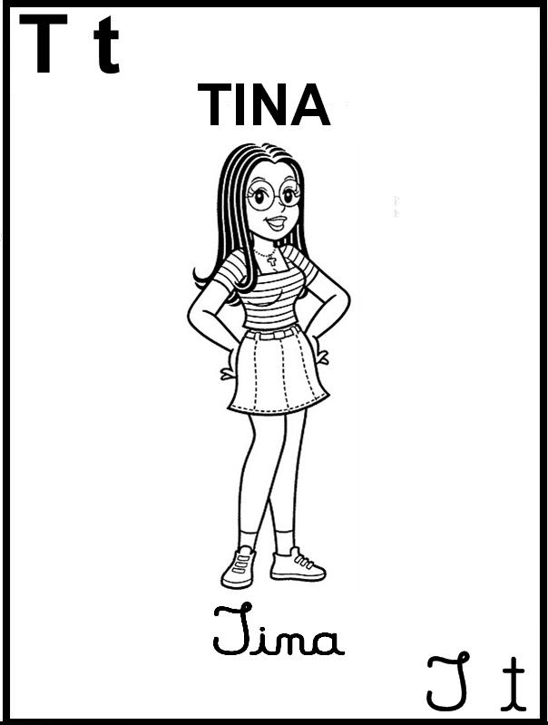 Alfabeto Ilustrado Turma da Mônica - Letra T