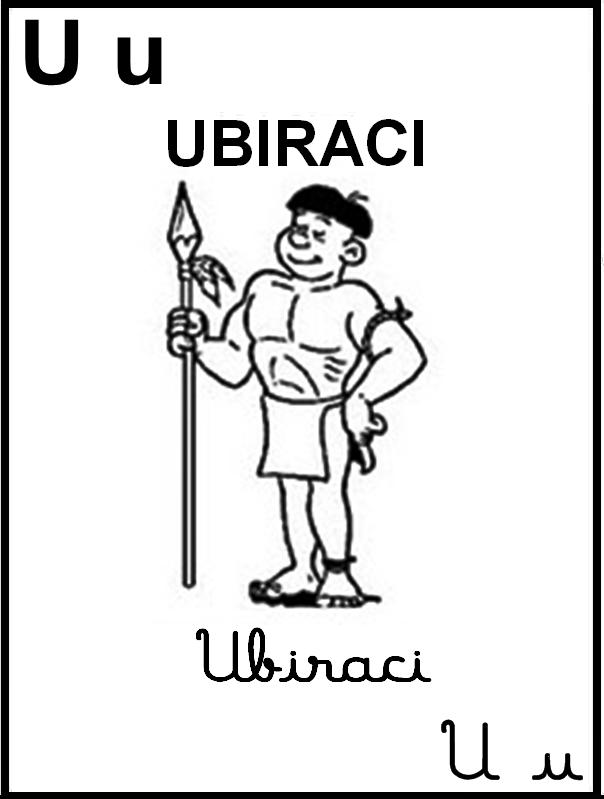 Alfabeto Ilustrado Turma da Mônica - Letra U