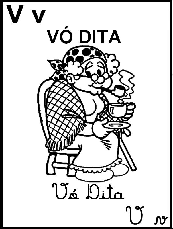 Alfabeto Ilustrado Turma da Mônica - Letra V