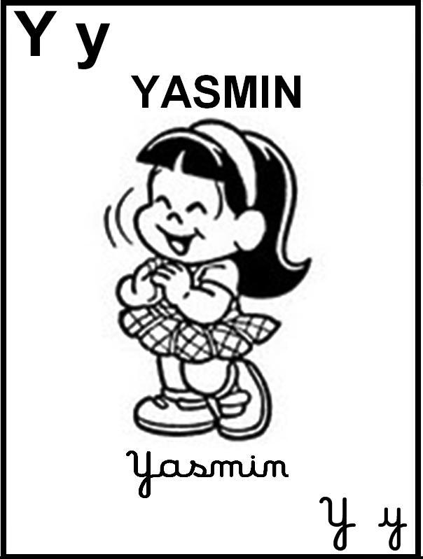 Alfabeto Ilustrado Turma da Mônica - Letra Y