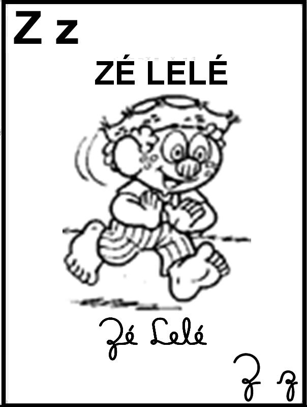 Alfabeto Ilustrado Turma da Mônica - Letra Z