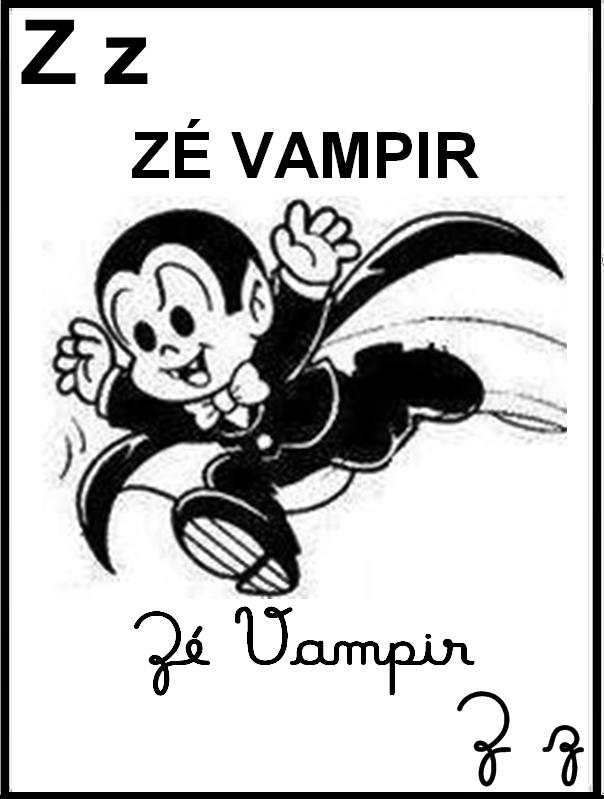 Alfabeto Ilustrado Turma da Mônica - Zé Vampir