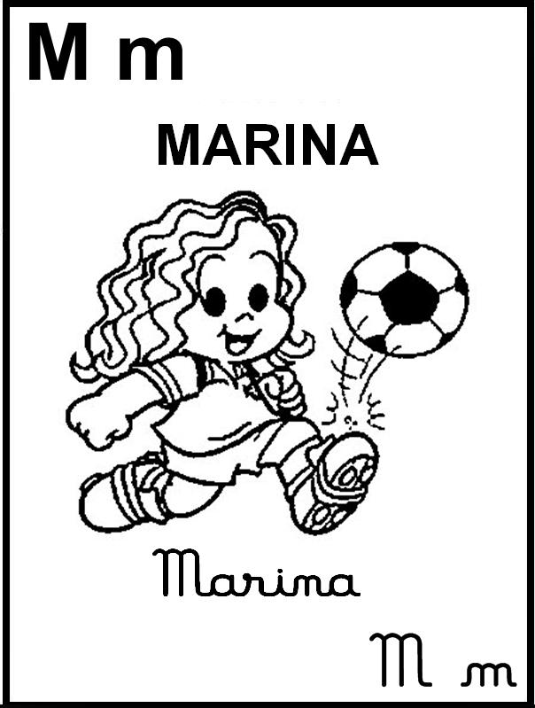 Alfabeto Ilustrado Turma da Mônica - Marina