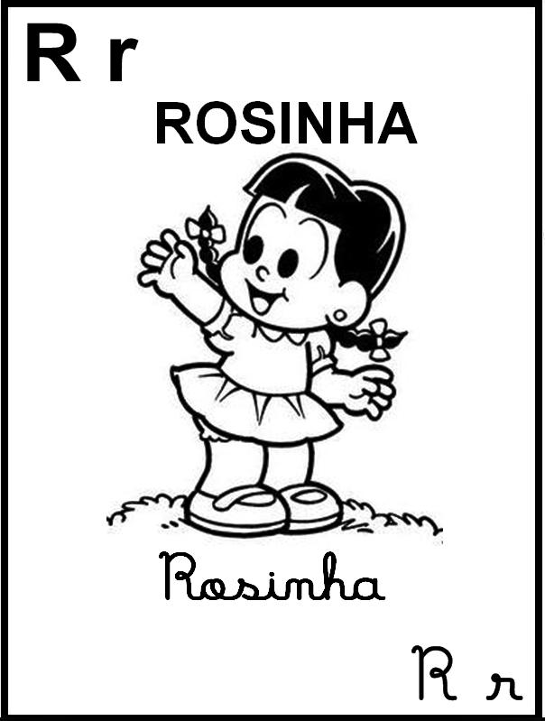 Alfabeto Ilustrado Turma da Mônica - Rosinha