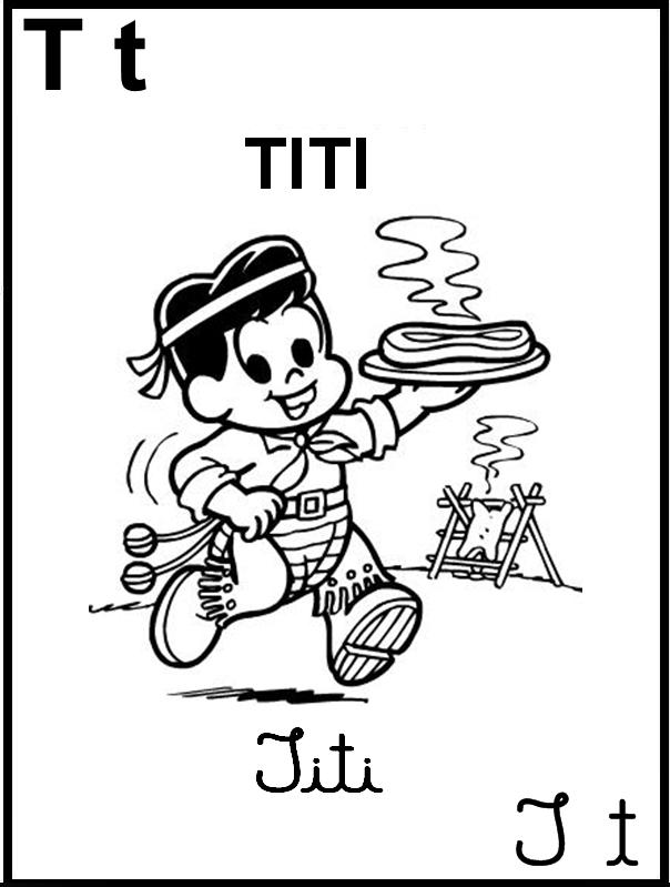 Alfabeto Ilustrado Turma da Mônica - Titi