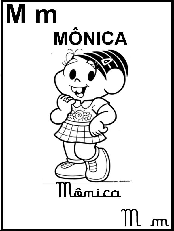 Alfabeto Turma da Mônica - Letra M de Magalí