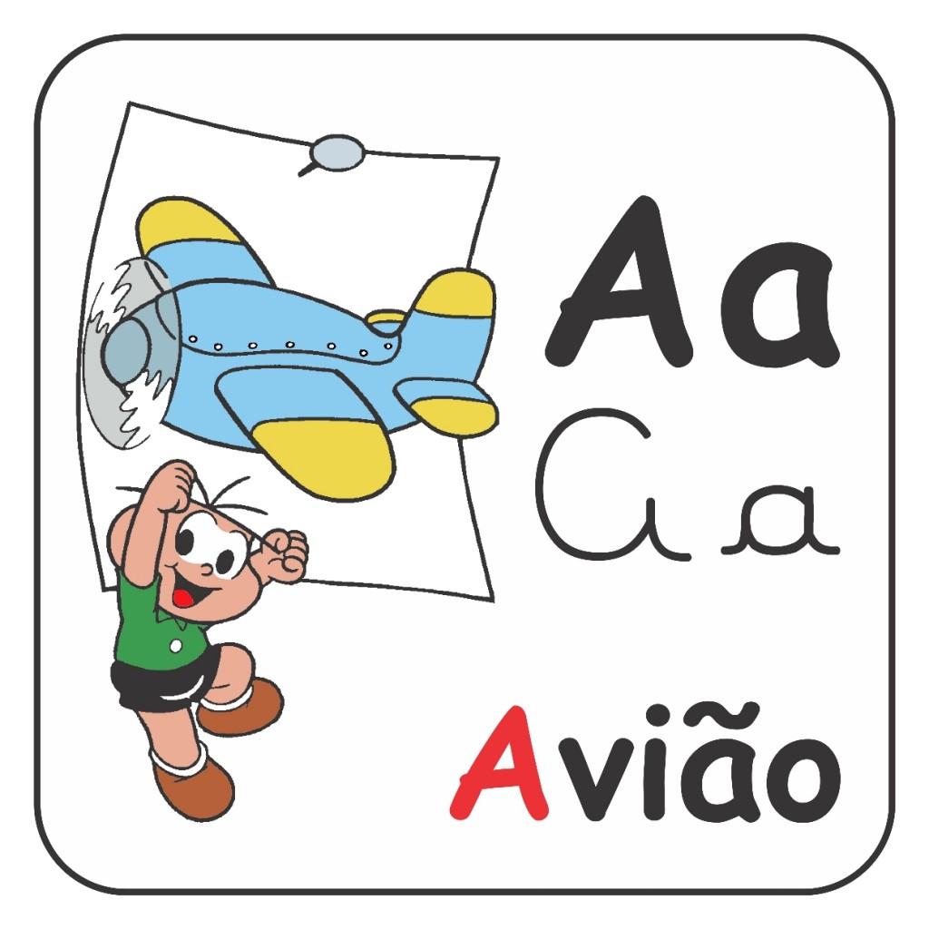 Alfabeto Turma da Mônica Colorido - Letra A