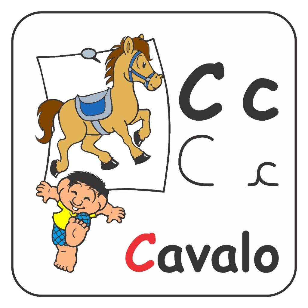 Alfabeto Turma da Mônica Colorido - Letra C