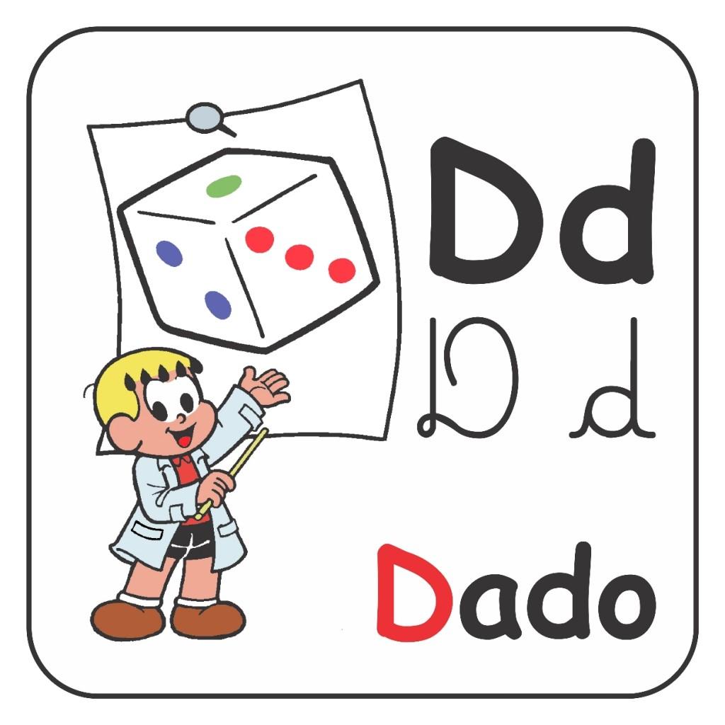Alfabeto Turma da Mônica Colorido - Letra D