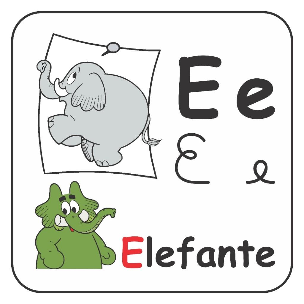 Alfabeto Turma da Mônica Colorido - Usando a Letra E