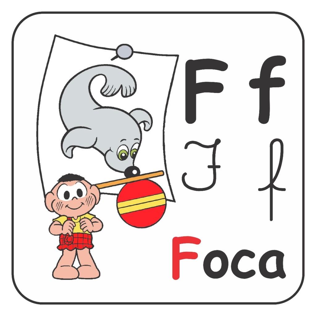 Alfabeto Turma da Mônica Colorido - Letra F