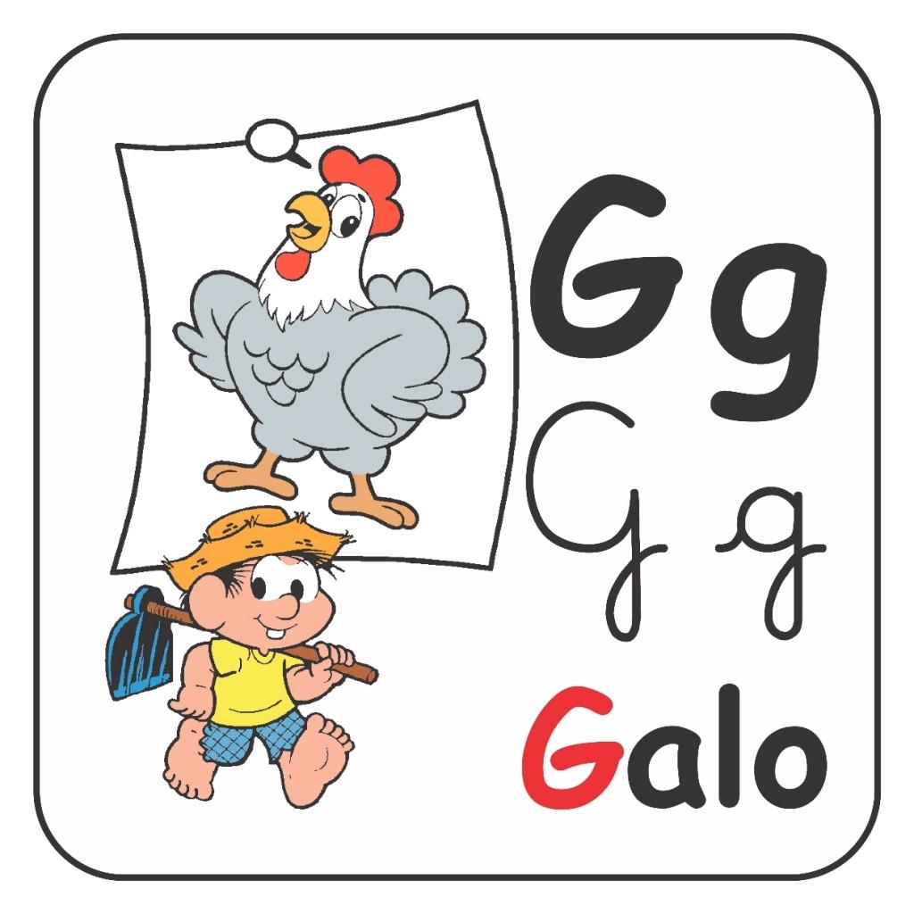Alfabeto Turma da Mônica Colorido - Letra G