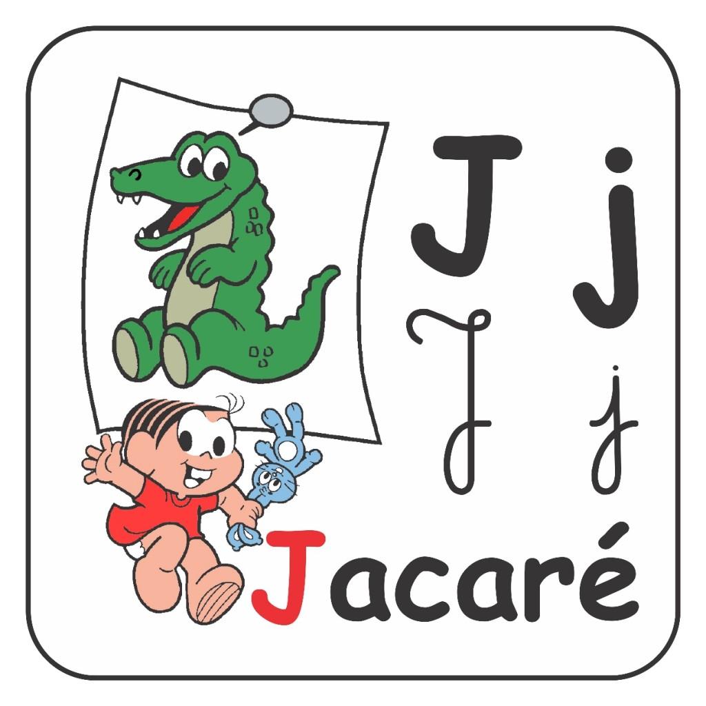 Alfabeto Turma da Mônica Colorido - Letra J