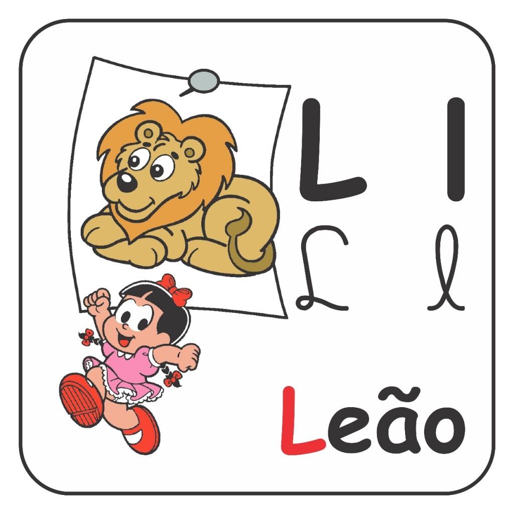 Alfabeto Turma da Mônica Colorido - Letra L