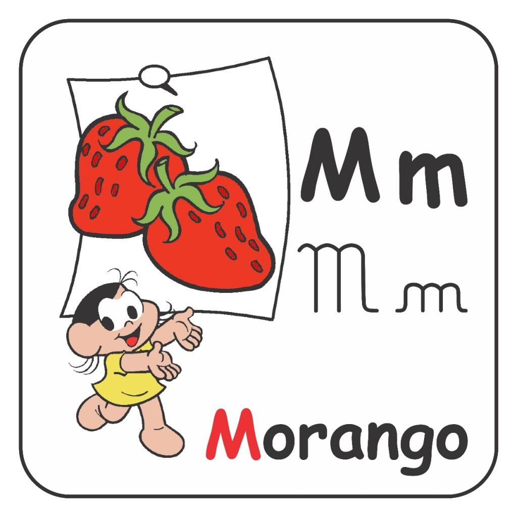 Alfabeto Turma da Mônica Colorido - Letra M