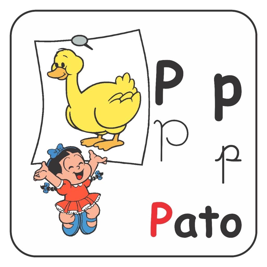 Alfabeto Turma da Mônica Colorido - Letra P
