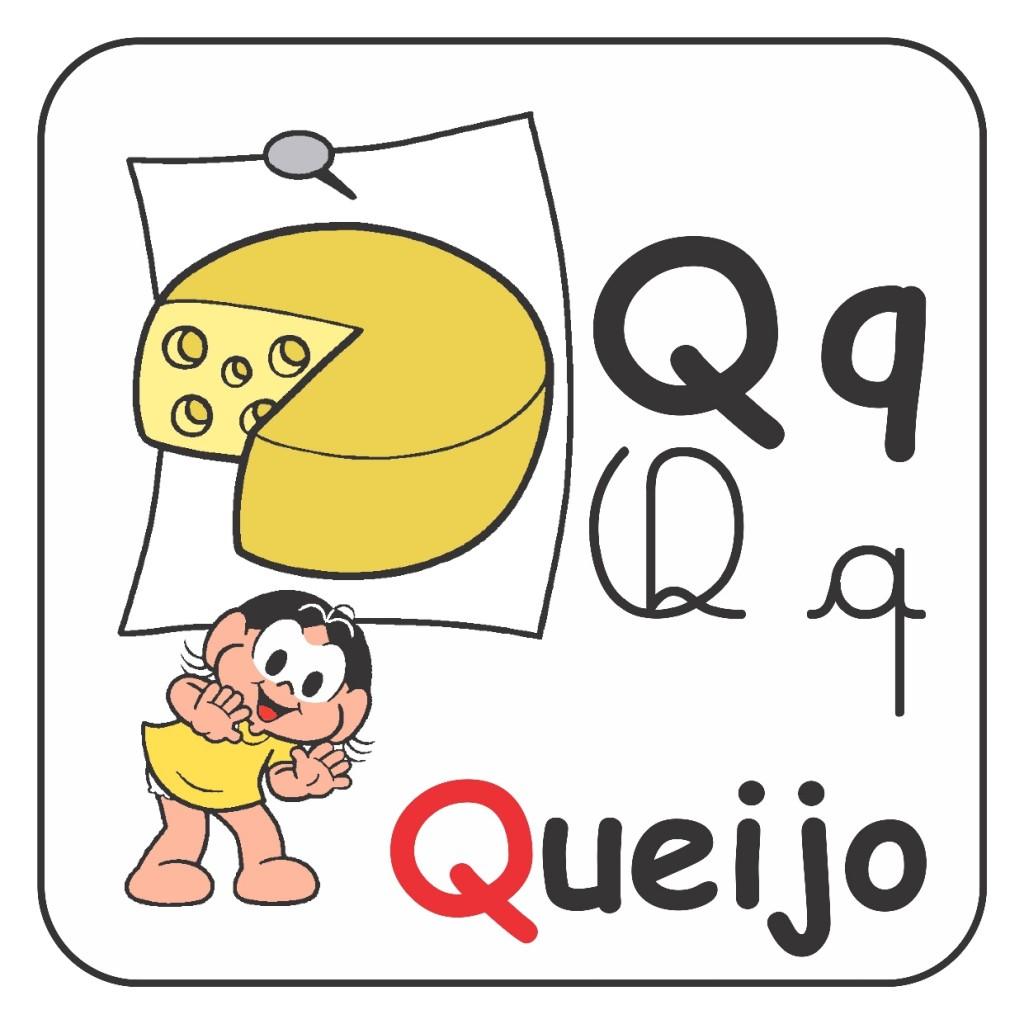 Alfabeto Turma da Mônica Colorido - Letra Q