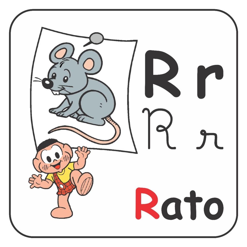 Alfabeto Turma da Mônica Colorido - Letra R