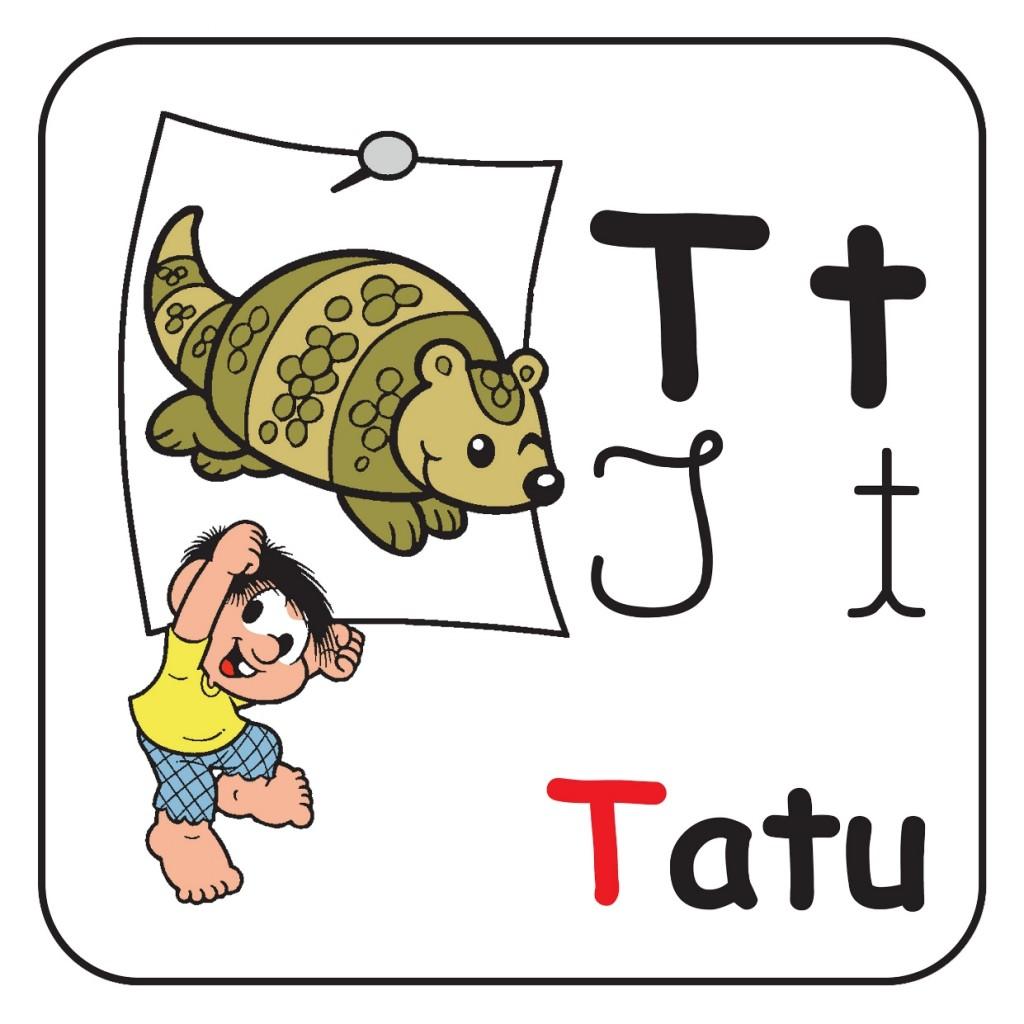 Alfabeto Turma da Mônica Colorido - Letra T