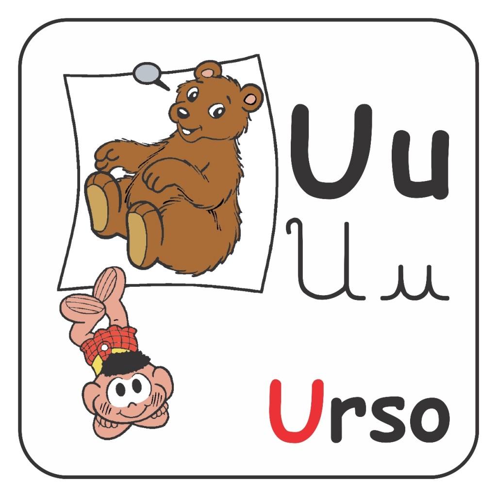 Alfabeto Turma da Mônica Colorido - Letra U