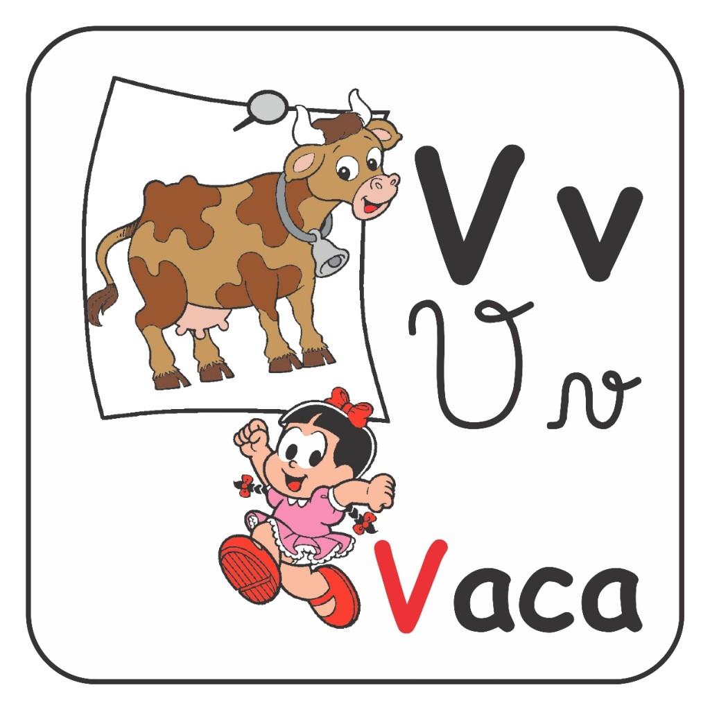 Alfabeto Turma da Mônica Colorido - Letra V