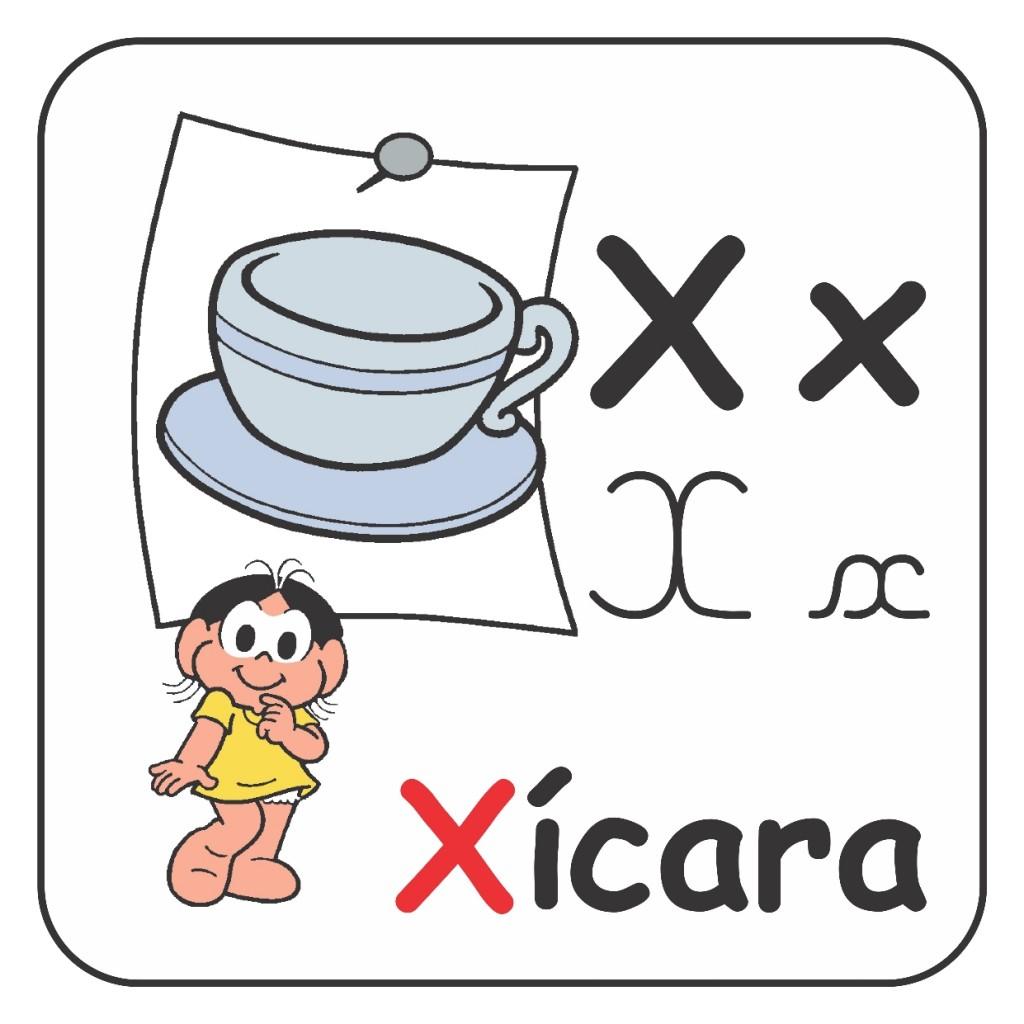 Alfabeto Turma da Mônica Colorido - Letra X