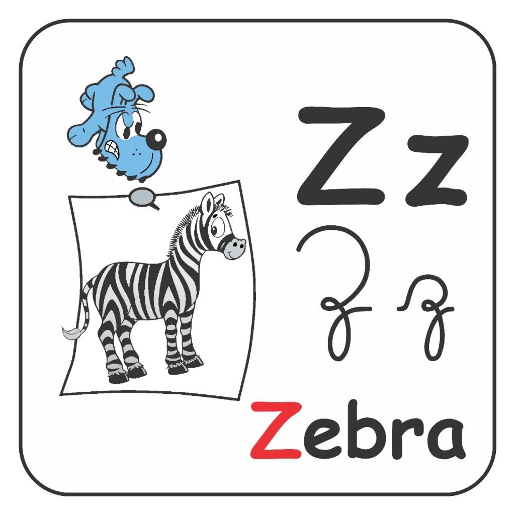 Alfabeto Turma da Mônica Colorido - Letra Z