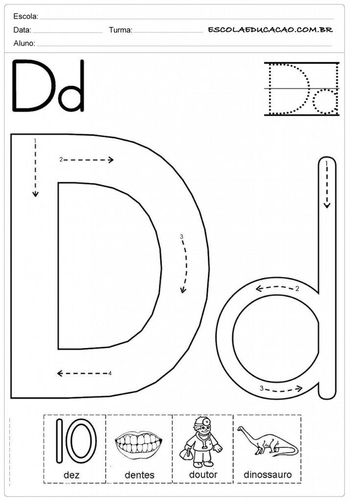 Atividades com a letra D - Desenhando