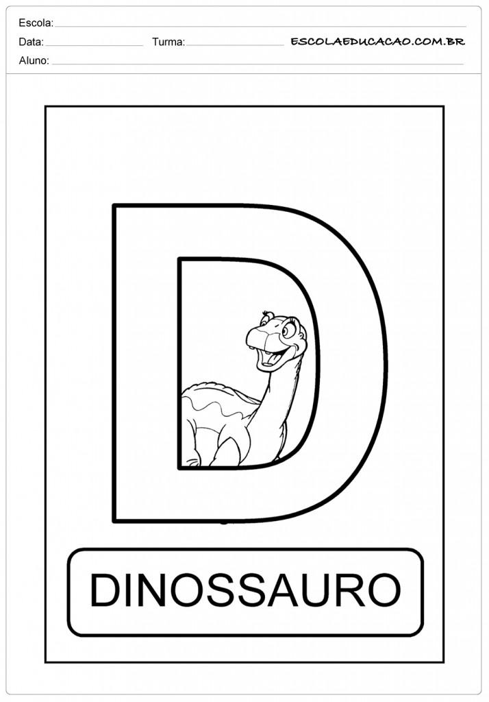 Atividades com a letra D - Dinossauro