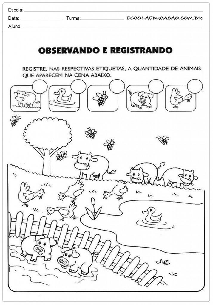 Conhecido Projeto Animais Educação Infantil - Para Imprimir UI95