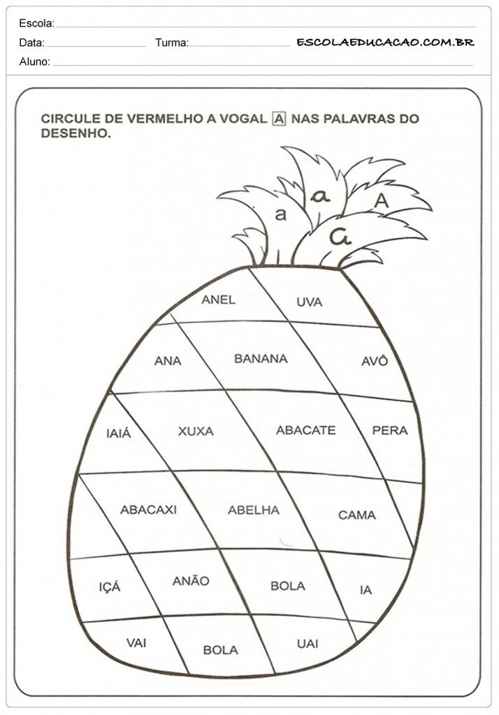Atividades com Vogais - Circule a Vogal