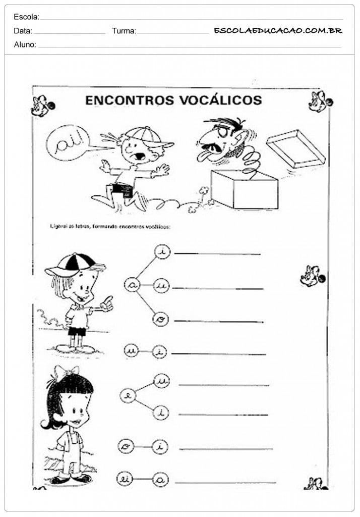 Atividades com Vogais - Encontro Vocálicos