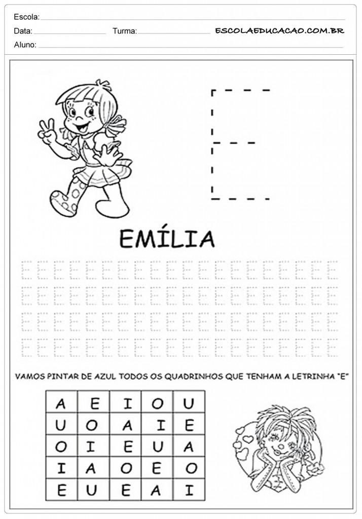 Fabuloso 20 Atividades com Vogais para Imprimir - Escola Educação CM69