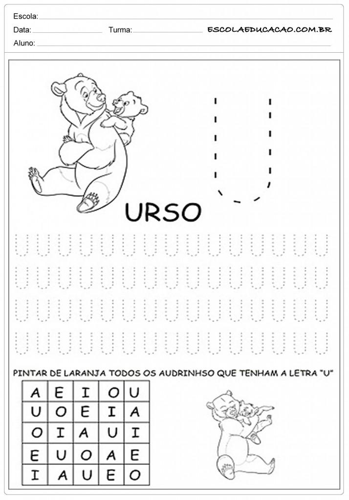 Muitas vezes 20 Atividades com Vogais para Imprimir - Escola Educação VM38