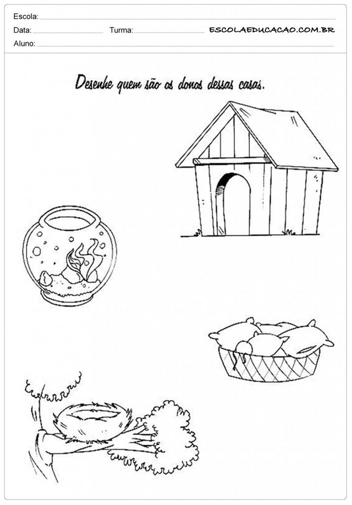 Atividades de Classificação e Seriação - Desenhe