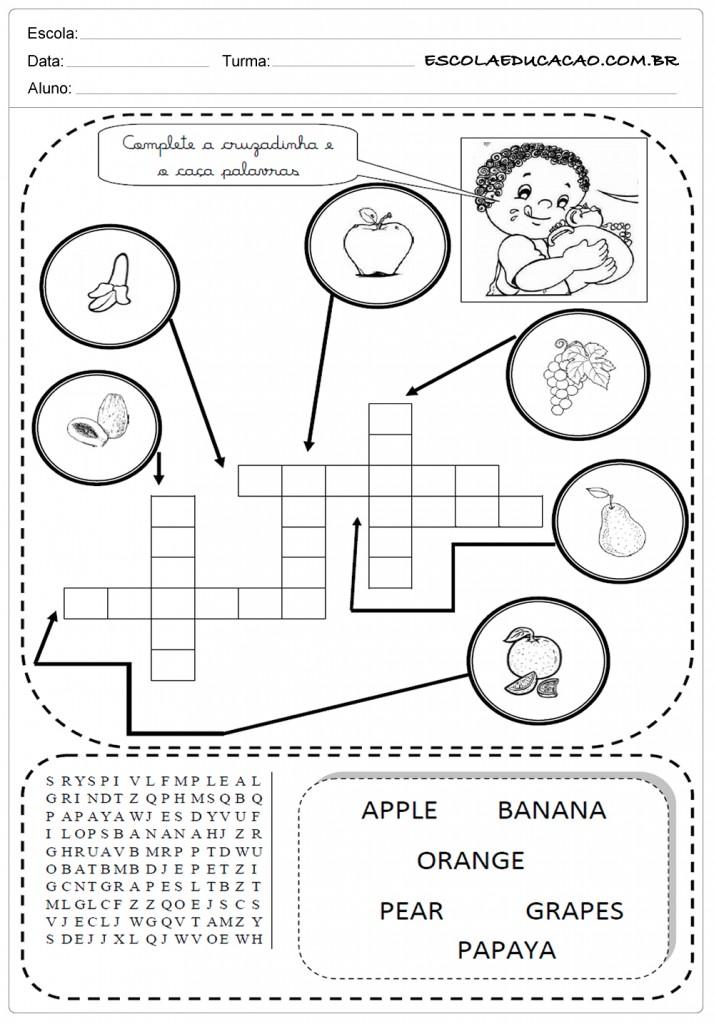 Amado Atividades de Inglês 2º ano - Para Imprimir - Educação YH09