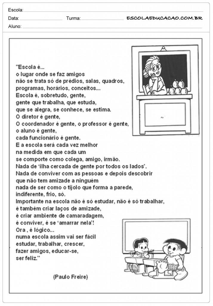 Poema Sobre a Escola