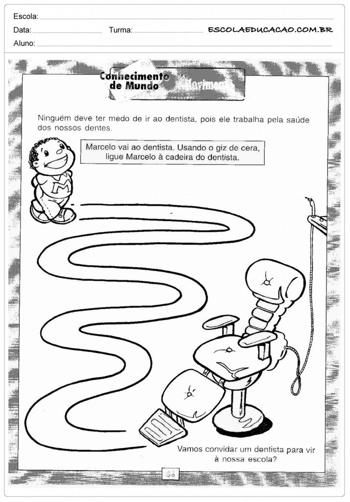 Preferência 20 Atividades sobre higiene e Hábitos - Inéditas - Para Imprimir NQ26
