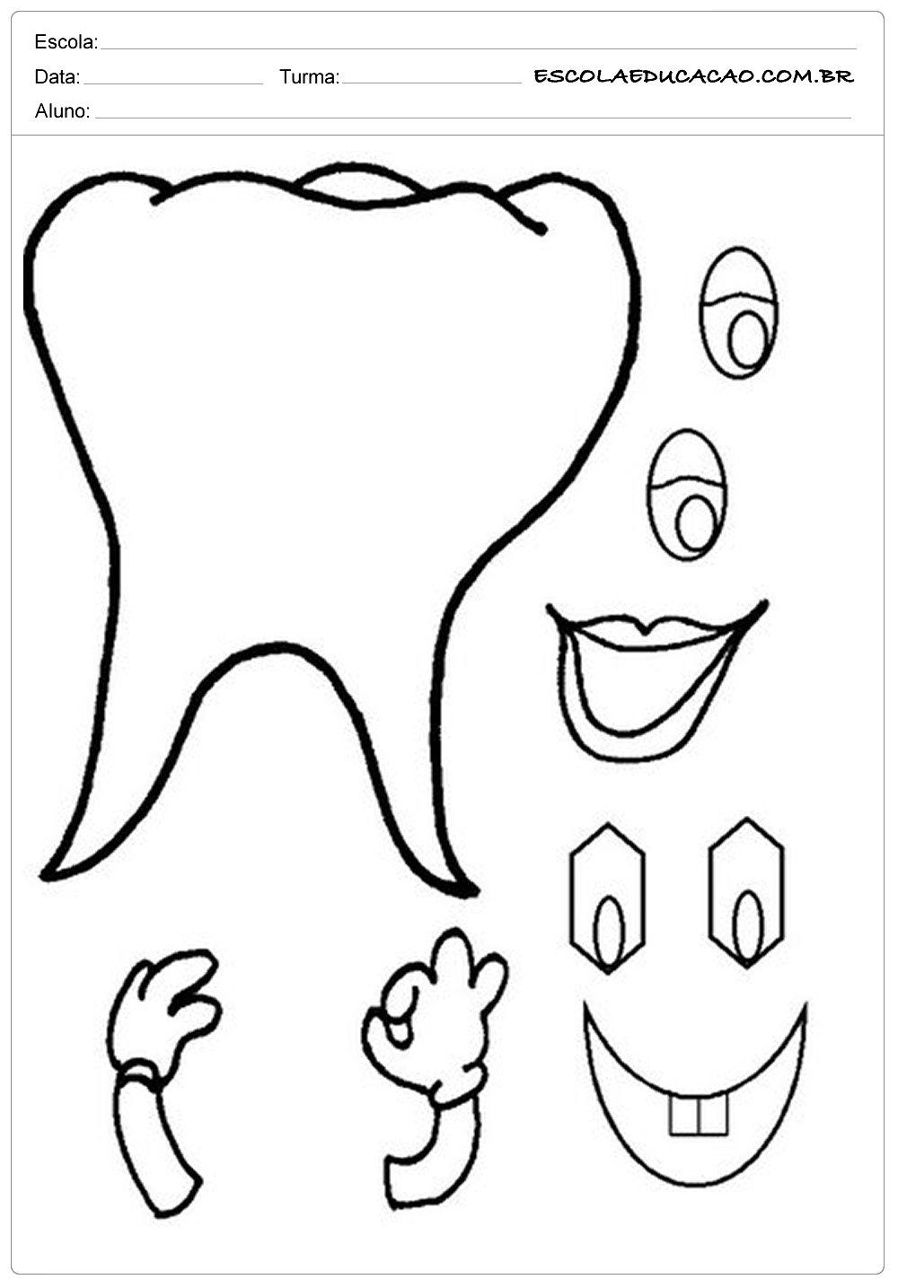 Atividades Higiene Corporal – Monte um Dentinho
