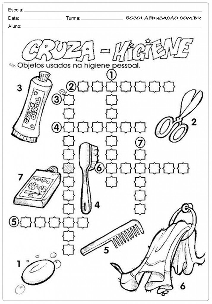 Super 20 Atividades sobre higiene e Hábitos - Inéditas - Para Imprimir DT01