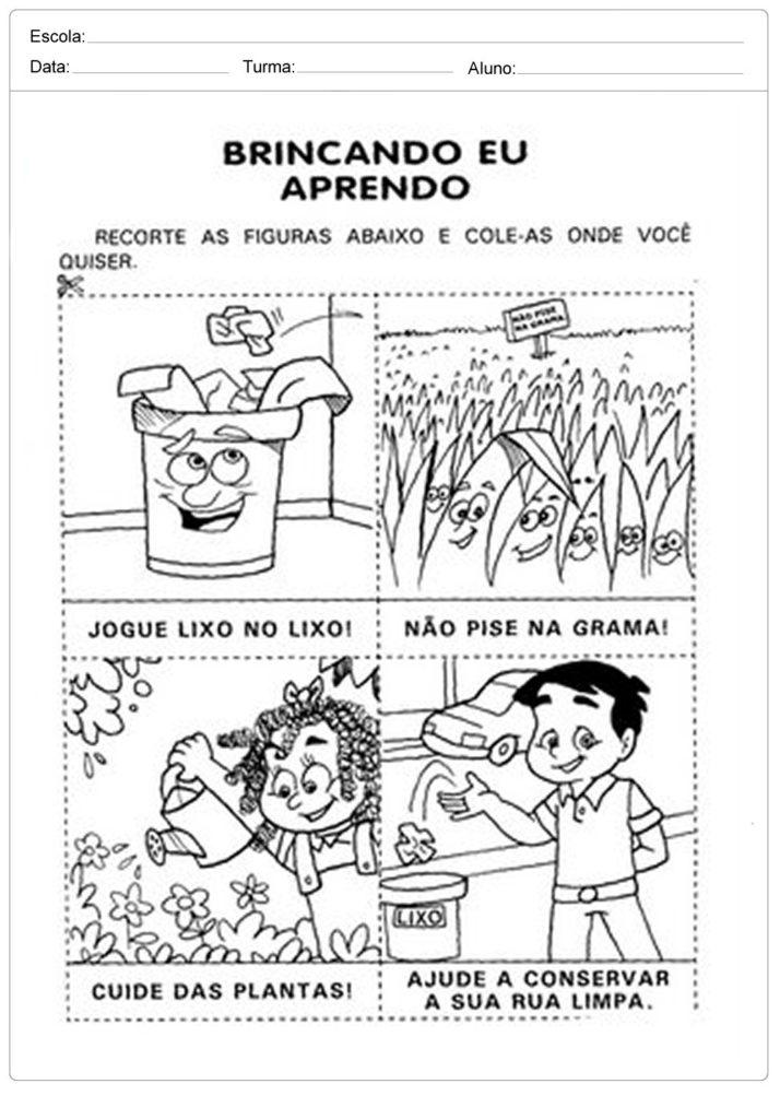 Atividades sobre meio ambiente para educação infantil - Brincando e aprendendo