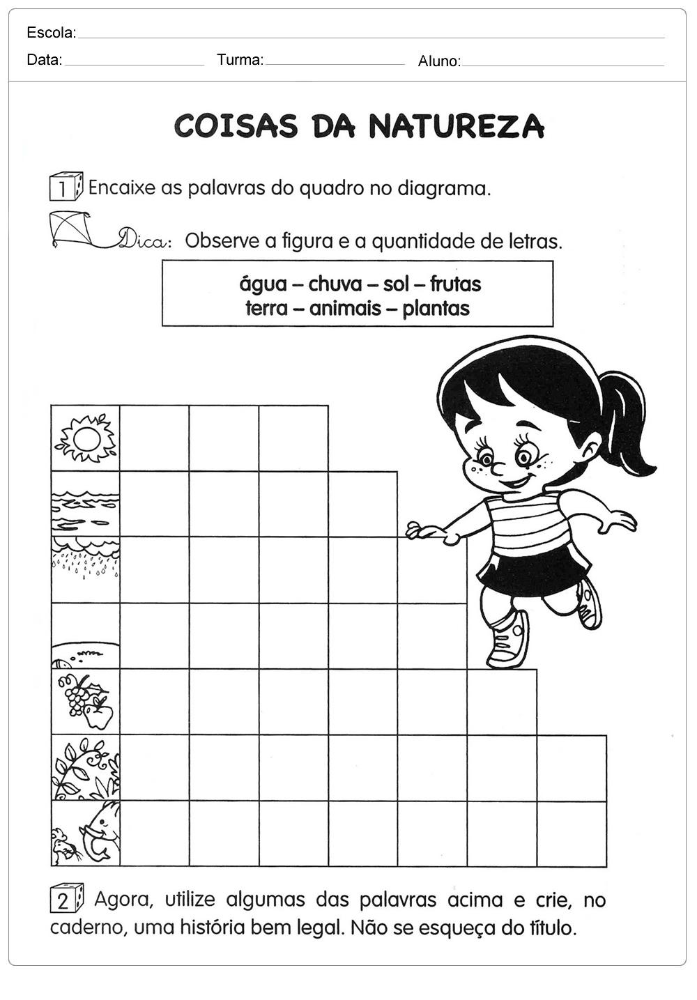 Atividades sobre meio ambiente para educação infantil – Coisas da natureza
