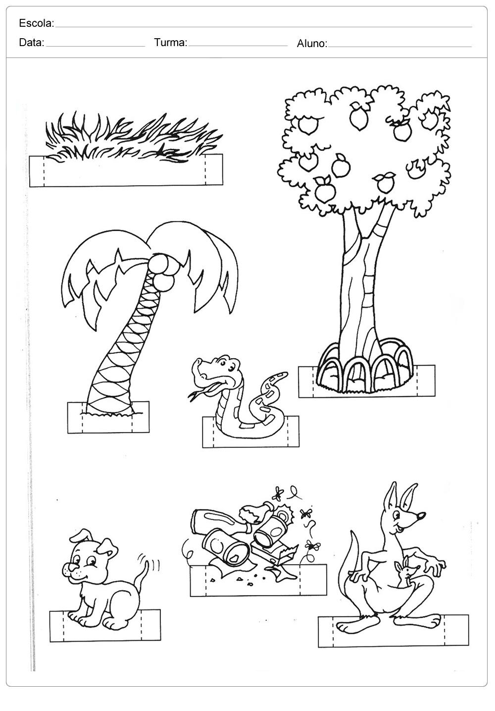 Atividades sobre meio ambiente para educação infantil – Crie um ambiente da natureza
