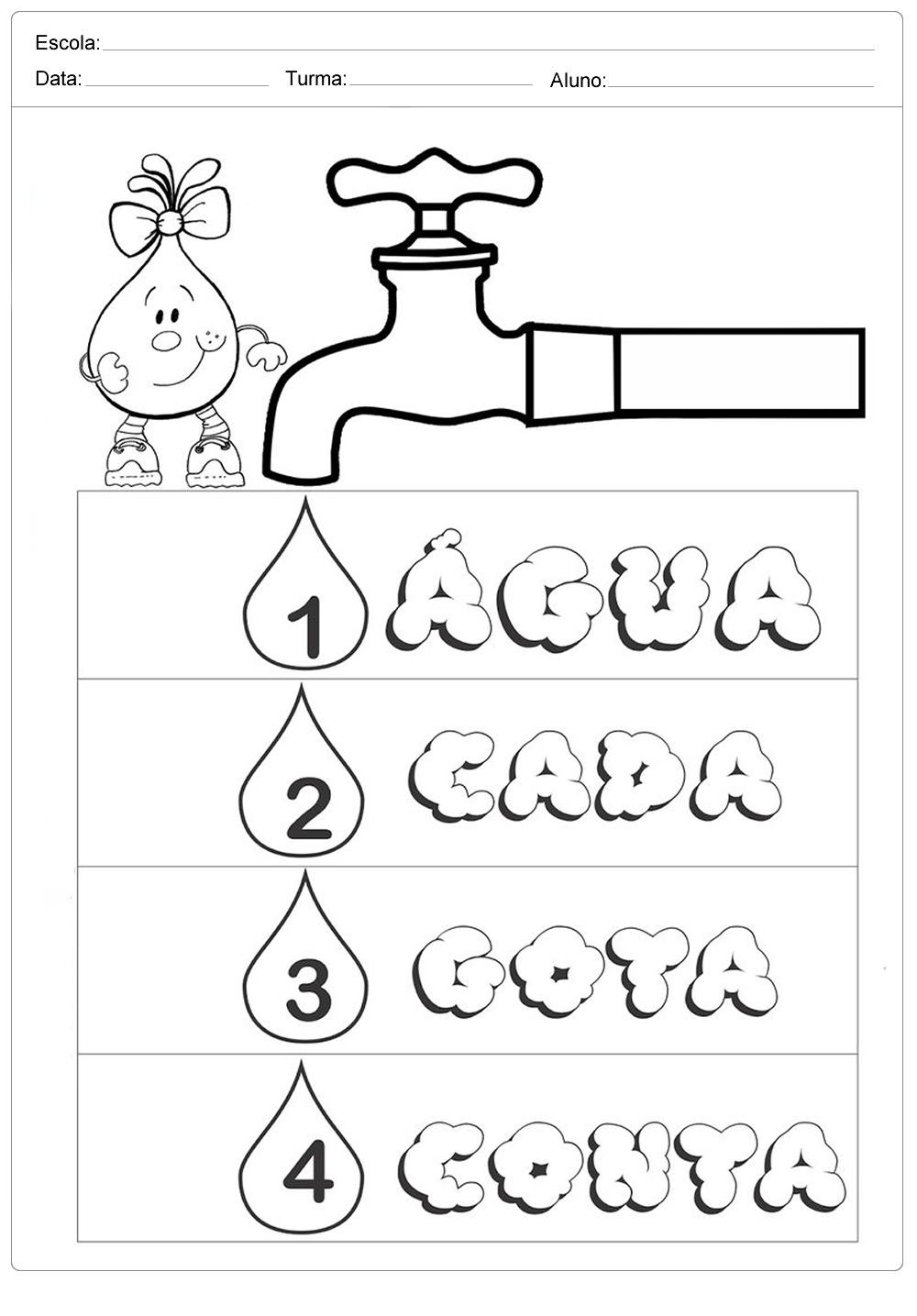 Atividades sobre meio ambiente para educação infantil – Importância da água