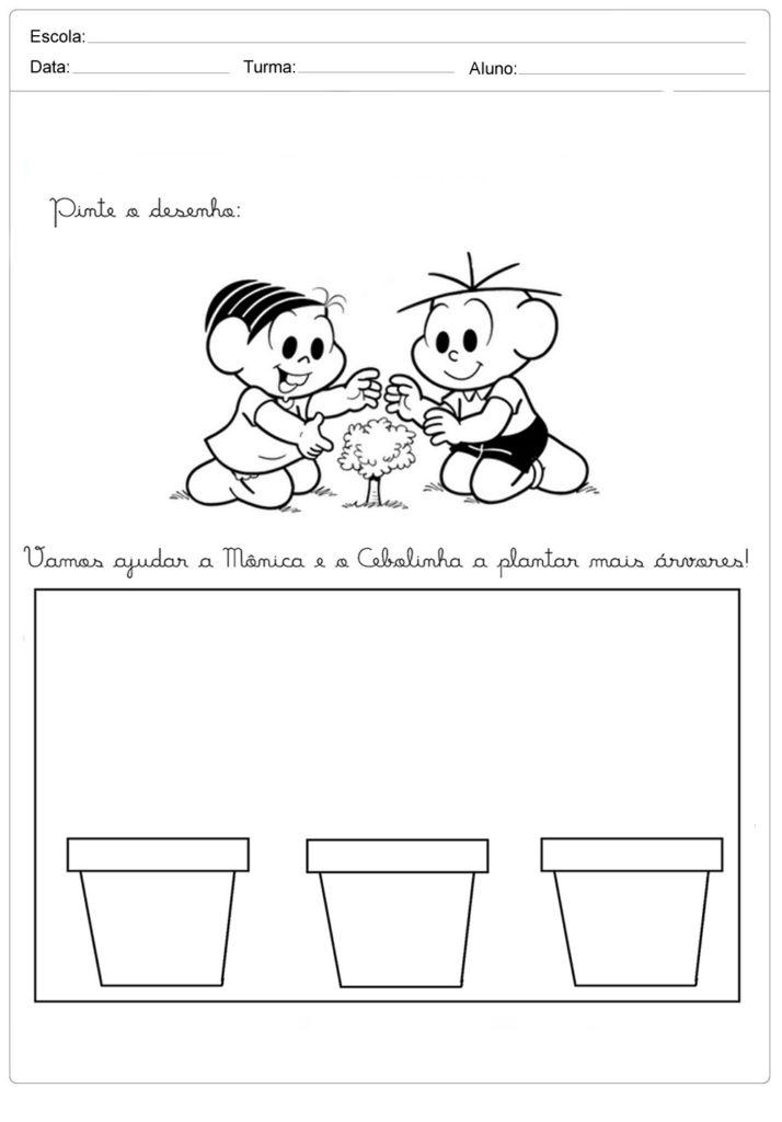 Atividades sobre meio ambiente para educação infantil - Plante mais árvores