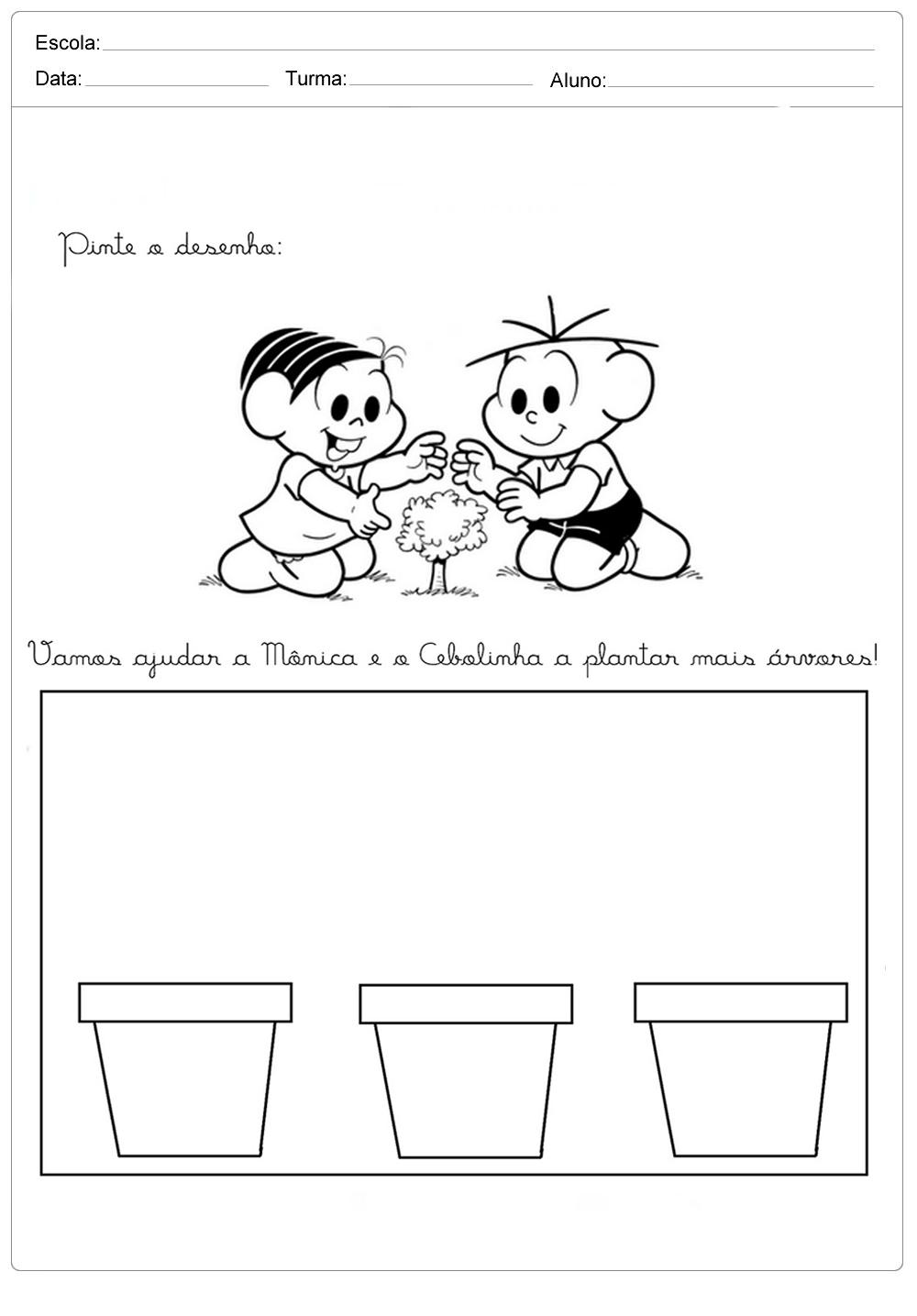 Atividades sobre meio ambiente para educação infantil – Plante mais árvores